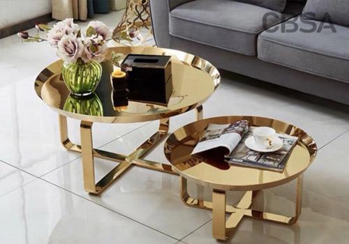 luxury stainless steel table