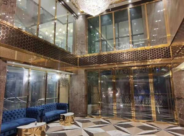 stainless steel hotel decorative project