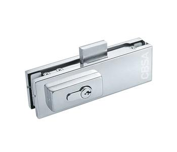 glass door floor lock