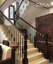 luxury home stair railing